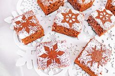 FlapJacked | Snowflake-Dusted Gingerbread Squares