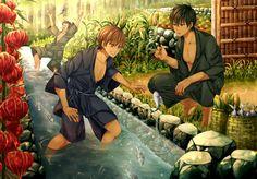Toushi, Sougo et Kondo Hot Anime Boy, I Love Anime, Gintama Wallpaper, Anime Land, Okikagu, Wallpaper Pc, Bungou Stray Dogs, Touken Ranbu, Manga Anime