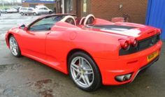Scott is enjoying this awesome performance car in the classic Ferrari Rosso Corsa red colour. It has cream coloured leather and a Formula One derived gearbox. With this car you get the looks and the performance to make your special Occasions day a spectacular day!