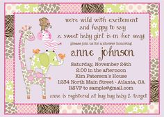 Printable Jungle Jill Baby Shower Deluxe by RusticAvenueDesigns