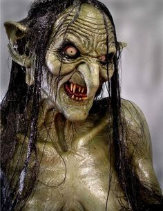 Meg Mucklebones (Goblin-esque) from the movie Legend witch Arte Horror, Horror Art, Horror Movies, Dark Fantasy, Fantasy Art, Movie Makeup, Fx Makeup, Creature Feature, Creature Design