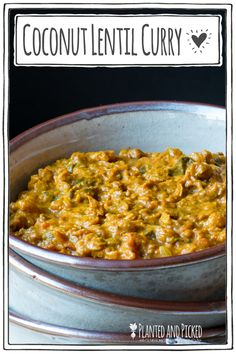 This easy to prepare Coconut Lentil Curry can be made inside an hour and is packed with delicious Indian flavours. It's a healthy vegan and naturally gluten free recipe that's perfect for meal prep. Vegan Recipes Beginner, Recipes For Beginners, Delicious Vegan Recipes, Gluten Free Recipes, Healthy Vegan Snacks, Vegan Breakfast Recipes, Vegan Food, Coconut Lentil Curry, Vegan Curry