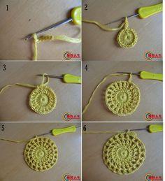Patron-Tutorial Crochet Bufanda Medias-Lunas Coreana - Patrones Crochet