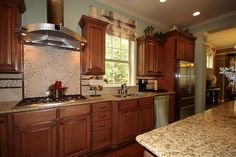 Love the back splash in this kitchen in The Showman Model