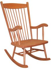 Amish Adult Rocker The Amish Adult Rocker is handmade from brown maple or oak wood. This cozy rocker is built in shaker style, exuding simplicity and warmth. American made furniture. Hardwood Furniture, Amish Furniture, Recycled Furniture, Rustic Furniture, Kids Furniture, Furniture Making, Amish Rocking Chairs, Glider Rocking Chair, Shaker Style Furniture