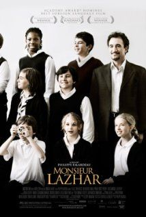 Monsieur Lazhar (2011) is a lovely film about a class of school children whose teacher commits suicide, and the man that helps them through the sorrow as their new teacher. It is nuanced, well written and feels true... Great performances from adults and children. Also sometimes I love a good story even more when it is told in the beautiful French language..