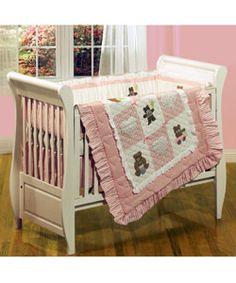 New Teddy Bear Girl Crib Bedding 10 Pcs Set Baby Nursery