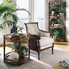 Tommy Bahama Home | Island Estate Nassau Chair. Listed at a discount site online for $ 1,060 each.