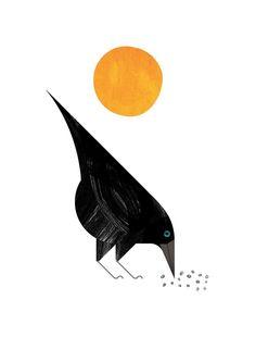 Silent Observer by: Marc Martin Plague Knight, Marc Martin, Raven Images, Contemporary Art Forms, Crows Ravens, Miniature Quilts, Vintage Botanical Prints, Bird Art, Wolves
