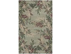KAS Rugs Sparta Sage Tropical Branches Area Rug