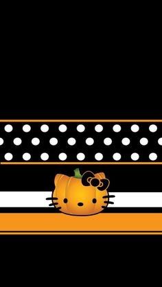 Cute Fall Wallpaper, Holiday Wallpaper, Halloween Wallpaper Iphone, Beautiful Wallpaper, Halo Halloween, Halloween Cat, Cellphone Wallpaper, Iphone Wallpaper, Hello Kitty Halloween