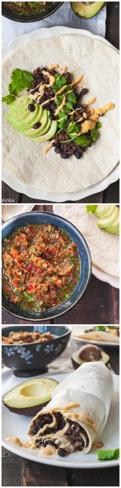 chipotle beef and black bean burritos