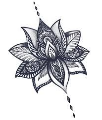 Image result for small lotus tribal tattoos for women