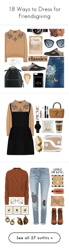 """""""18 Ways to Dress for Friendsgiving"""" by polyvore-editorial ❤ liked on Polyvore featuring friendsgiving, Dolce&Gabbana, Gucci, Fendi, Lapcos, lilah b., Chanel, vintage, Chloé and CLUSE"""