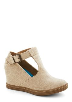 Inner Artist Wedge in Sand. Your weekends are reserved for charging up your creativity. #tan #modcloth