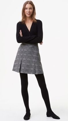 LOFT Ribbed Sweater Tights - Ribbed yet perfectly lightweight, these flattering ribbed sweater tights are a texturally cool take on the ultimate wardrobe staple. Elasticized waist. #tights #pantyhose #nylons #hosiery