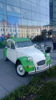 Citroen 2 CV in Nitra, Slovakia. I have a fondness for these cars as I had one back in the 80s, except mine was white an red.