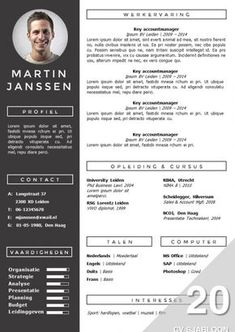 CV Template Geneve, professional cv template in Word and PowerPoint, fully…