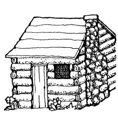 log cabin coloring page clipart panda free clipart images clipart best clipart