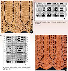 Вязание спицами - ажурный край