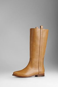 Burberry Overdyed Leather Boots, $695