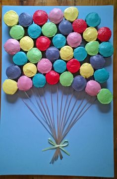 Balloon Cupcakes | www.80cakes.com