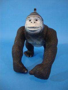 1987 HG Indus King Kong Gorilla Action Figure Dinosaur Warriors African Safari  #HGIndustries