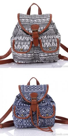bf0e669572 Unique Totem Floral Prints Women Rucksack Folk Irregular Canvas College  Backpack is very cute.