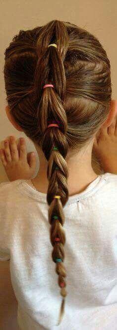 Pull through braid for little girls - super cute!