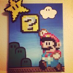 Mario art perler