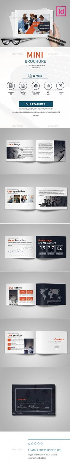 Mini Brochure  — InDesign Template #agency #clean&modern #editable…