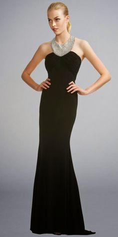 7942e97c2441 Marie Lund, Black Chiffon Column Gown Evening Dresses 2014, Dresses For  Teens, Dresses