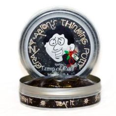 Limited Edition Lump of Coal Thinking Putty is perfect for turning that naughty person nice! Part of a 4 Tin Set of limited edition holiday Christmas colors. #stockingstuffer #gift #putty #toys