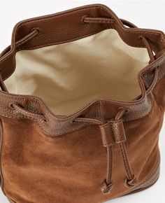 Ann Taylor S Es Drawstring Suede Crossbody Bag