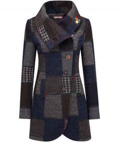 Coats for women - Casual Turtleneck Shift Outerwear – Coats for women Winter Coats Women, Coats For Women, Jackets For Women, Clothes For Women, Mode Kimono, Coat Dress, Outerwear Women, Jacket Style, Winter Fashion