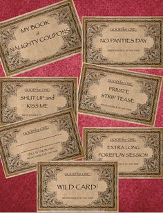 Naughty Couples Coupons in Satin Pouch, Sensual Love Coupons for Him/Her, for… Coupon Books For Boyfriend, Coupons For Boyfriend, Diy Gifts For Boyfriend, Birthday Gifts For Boyfriend, Girlfriend Gift, Bf Gifts, Homemade Birthday, Birthday Diy, Love Coupons For Him