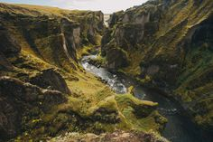 "slanting: ""Jon Ferry, Fjaðrárgljúfur. South Iceland from his series 13 Days in Iceland """