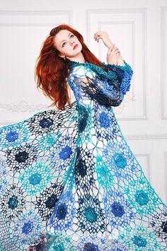 Jacket Crochet Lace Roses Flowers Boho Gypsy door RuchkiKruchkI, $1250.00