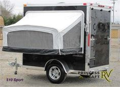Enclosed Cargo Trailer Camper Conversion Fold Out Bed Kit Enclosed Trailer Camper, Cargo Trailer Camper Conversion, Enclosed Cargo Trailers, Utility Trailer, Motorcycle Camping, Truck Camping, Camping Glamping, Camping Gear, Motorcycle Trailer