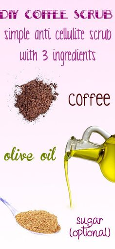 DIY casera contra la celulitis café exfoliante