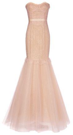 Blush mermaid gown / marchesa