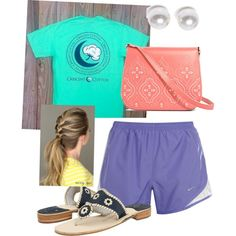 Summer day by margaretinmotion on Polyvore featuring polyvore, fashion, style, NIKE, Jack Rogers, Vera Bradley and Nouv-Elle