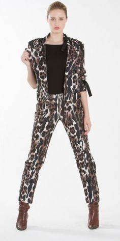 Stand out from the crowd in this animal print suit