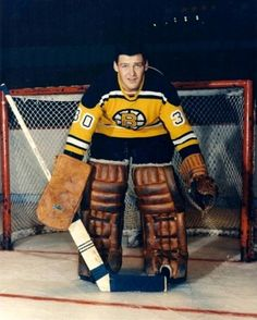 Rookie goalie Bernie Parent made 40 saves in his first NHL game vs Chicago, while veteran goalie Johnny Bower starred for Toronto against New York. Hockey Goalie, Hockey Players, Ice Hockey, Nhl Games, Hockey Games, Bernie Parent, La Kings Hockey, Boston Bruins Hockey, Goalie Mask