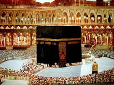 Muslims face Mecca during their daily prayers and one of the key tenets of Islam is a pilgrimage to Mecca at least once in a Muslim's life (known as Hajj). Mecca Sharif, Umrah Guide, Mecca Kaaba, Mecca Islam, Islam Quran, Mecca Wallpaper, Islamic Wallpaper, Lion Wallpaper, Iphone Wallpaper