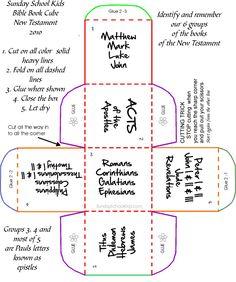 Faith Sunday school kids New Testament learning cube