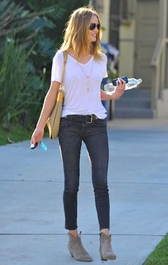 like the cropped skinny jean with bootie