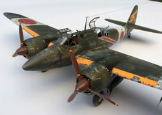 "Japanese fighter Kawasaki Ki-45 Toryu (Dragon Slayer) ""Nick"". HASEGAWA 1/48 scale. By Peter D. #WW2 #warbirds #scale_model"
