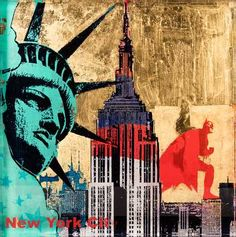 Sandra Rauch, New York, 2016 /  © www.lumas.com/ #Lumas,  Art Object,  Batman,  Big Apple,  Capital,  Capitals,  Cities,  City,  Collage,  Collages,  Colour,  colourful,  Concept,  creations,  Empire State Building,  Graffiti,  Hero,  Heroes,  mixed media,  New York,  New York City,  Paint,  Painting,  Photography,  Sculpture,  Sculptures,  Sights,  Sightseeing,  Statue of Liberty,  Superhero,  Superheroes,  USA