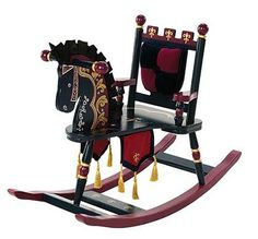This extravagant rocking horse is perfect for your little prince!